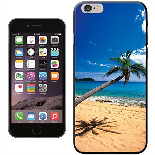 Fancy A Snuggle 'Sonne Set in Sea mit Wasser Bungalows' Hard Case Clip On Back Cover für Apple iPhone 5 C Blue Sea Sandy Beach Palm Tree