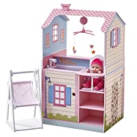 Teamson Kids TD-11460A Doll House, Multicoloured