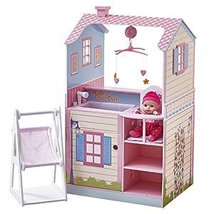Casa para muñecas de 45,7 cm con habitación de bebé de Teamson KidsTD-11460A
