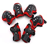 Leoie 6 Pieces Kids Outdoor Sports 3 in 1 Protective Gear Knee Pads Elbow Pads Wrist Guards Roller Skating Cycling Biking Safety Protection