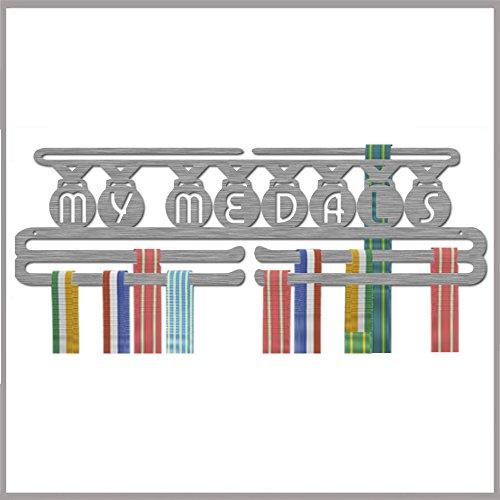 """Medaillen-Aufhänger, Edelstahl, drei Hänge-Ebenen, """"My Medals"""" (in englischer - Aufhänger Race-medaille"""