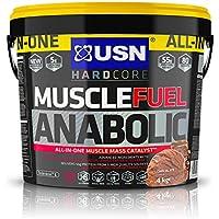 USN Muscle Fuel Anabolic Lean Muscle Gain Shake Powder, Chocolate, 4 kg
