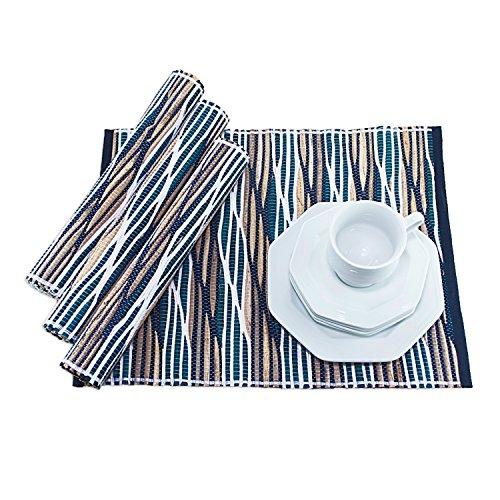 Hausmann & söhne - set di tovagliette all'americana in giacinto d'acqua, materia prima sostenibile, 35 x 45 cm, decorazione per tavola, ideale come regalo