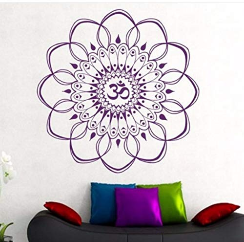 Zxfcczxf Mandala Girlande Kreative Heimat Geschnitzte Kunst Wandaufkleber Yoga Studio Dekoration 56 * 56 Cm