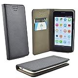 ikracase für Phicomm Energy 3 Plus Smartphone Handyhülle Schutzhülle Hülle Slide Kleber Case Cover Schutz Handy Tasche Cover Etui Schale - Schwarz - 5.5