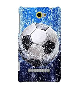 Football in Water 3D Hard Polycarbonate Designer Back Case Cover for HTC Windows Phone 8S :: HTC 8S
