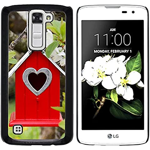 LG K7 X210 / MS330 / Tribute 5 LS675 , Cassa Cover Guscio Di Plastica (Albero Fiori ramo Birdhouse