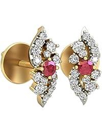 PC Jeweller The Lizaveta 18KT Yellow Gold, Diamond & Gemstone Earring