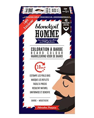 Blondépil hombre Coloración a la barba marrón Natural barba/bigote Kit 3usos - paquete de 2
