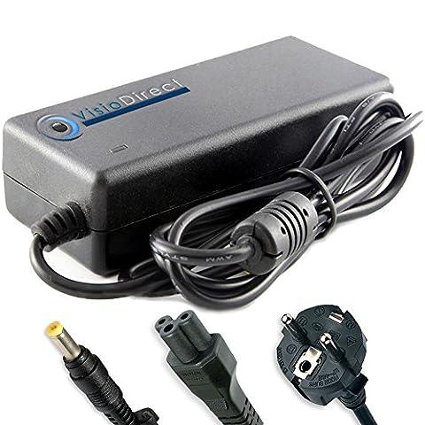 Adaptateur alimentation chargeur secteur pour ordinateur portable PACKARD BELL P5WS0 Visiodirect