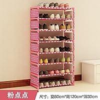 einfache student schlafsaal lagerung rack versammlung - schuh - staub kleinen schuh,acht pink dots