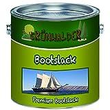 Grünwalder Premium 2-Komponenten Bootslack Yachtlack im Set für GFK, Polyester und Kunststoff inkl. Härter GLÄNZEND ALLE RAL Töne und klarlack Bootsfarbe Yachtfarbe Lack (5 kg, Weiß RAL 9010)