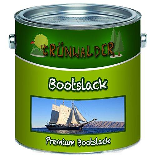 Grünwalder Premium 2-Komponenten Bootslack Yachtlack im Set für GFK, Polyester und Kunststoff inkl. Härter GLÄNZEND ALLE RAL Töne und klarlack Bootsfarbe Yachtfarbe Lack (2,5 kg, Farblos)