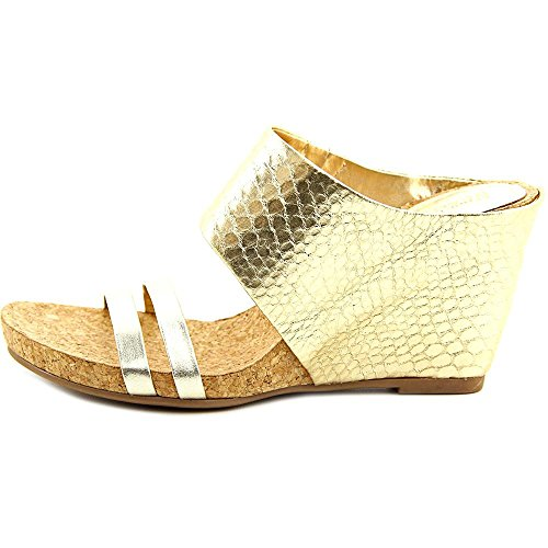 Kenneth Cole Reaction Lead Me Cuir Mules gold