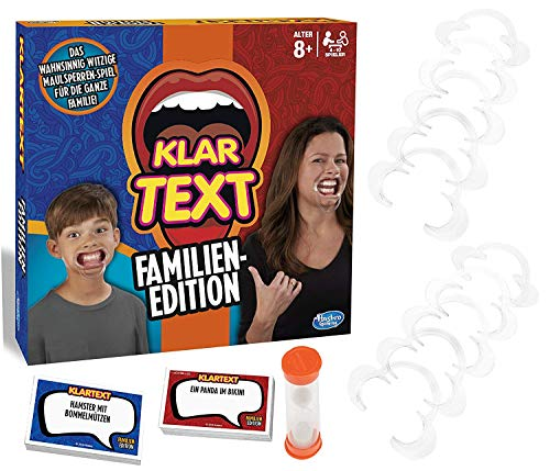 Hasbro Gaming C3145100 - Klartext Familien-Edition Partyspiel (Alter 8+)