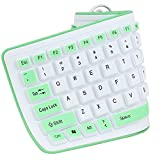 Yantralay Portable Soft Silicone Wired USB Waterproof Keyboard - Green