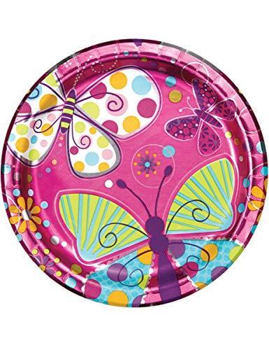 Butterfly Sparkle Folie 9Zoll Teller