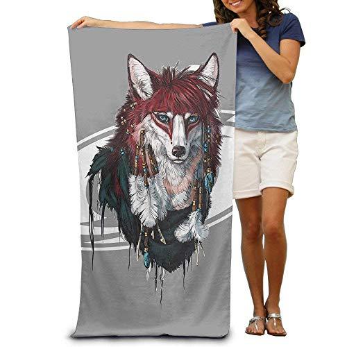 """zengjiansm Strandtücher Handtücher Bath Towel Wolf Animal Cartoon Patterned Soft Beach Towel 31""""x 51"""" Towel Unique Design"""