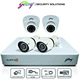#9: Godrej 1080P CCTV Camera KIT with 2 MP 2 Dome & 2 bullet camera + 4 Ch DVR + Cable + Connectors
