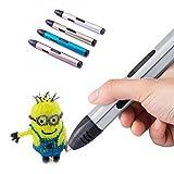 3D Druckstift Stifte 3D Drucker Stift Set 3D Drawing Pen mit OLED Display, 1.75mm PLA Filament, 15 Zeichnungsvorlagen, 2 Temperaturmodi, einschließlich ABS / PLA / FSK / PETG / PVA / Holz / HIPS
