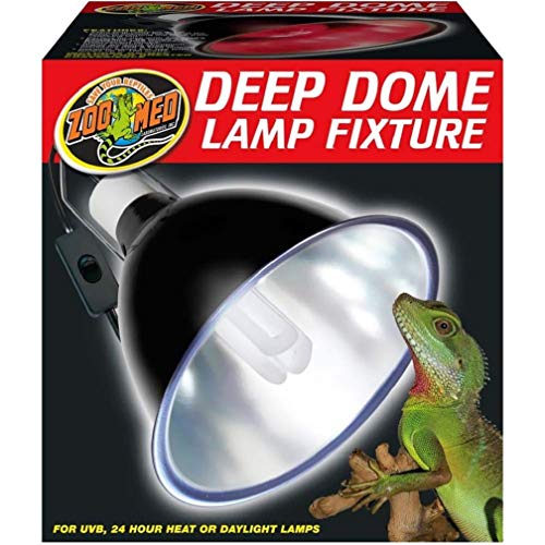 Zoo Med LF-17ec Repti Deep Dome, Reflektor-Lampenschirm für Energiesparlampen bis max. 160 W -