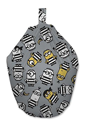 Despicable Me Minion Jailbird Design Sitzsack Stuhl für Schlafzimmer und Spielzimmer, Stoff, Grau,...