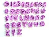 36 Buchstaben Zahlen Aussstecher Alphabet Ausstechformen Fondant Marzipan Torten