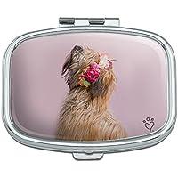 Soft Coated Wheaten Terrier Hund Blumen Rechteck Pille Fall Schmuckkästchen Geschenk-Box preisvergleich bei billige-tabletten.eu