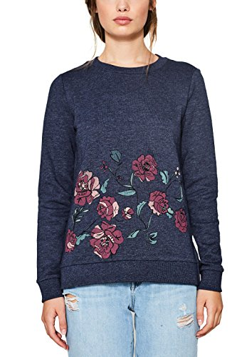 edc by ESPRIT Damen 087CC1J019 Sweatshirt, Blau (Navy 5 404), Medium