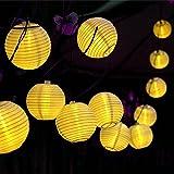 DEKOMORE 30 LEDs Lichterkette 6.35m Warmweiß Laterne Wasserdicht Lampions Dekoration für Garten, Terrasse, Hof, Haus, Feiern