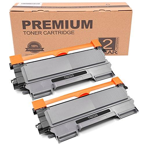 Itari Toner kompatibel für TN-2220 TN2220 TN 2220 XXL TN-2010 TN2010 TN 2010 (2.600 S) für Brother DCP-7065dn DCP-7070dw DCP 7060d Fax 2840 2940 (2 Schwarz)