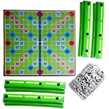 ISRE Scrabble Board Game Crossword Game Letters Tiles For Family Kids Friends Junior Travel (Multi Colour)