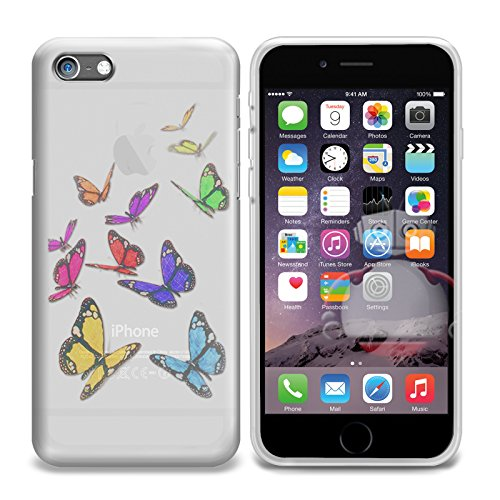 Price comparison product image FoneM8® - Butterfly Designer Gel Case Skin Cover For iPhone 6 6S