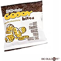 (10 Pack) Goody Bites Organic Vegan Raw Bites | Vanilla Chocolate Probiotic Lactobacillus Bulgaricus | 40g