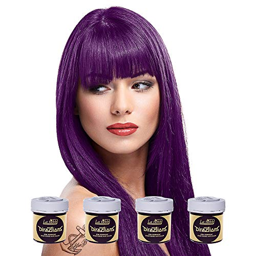 La Riche Directions Semi-Permanent Hair Colour Dye Box Of Four-Plum by La Riche