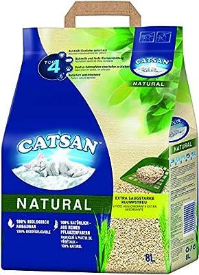 Catsan 4008429117138 Clumping Cat Litter Natural (1 x 8 L) from Catsan