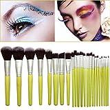 ICHQ Professionelle Hochwertige Seidig weiche Make-up Pinsel Set Super Soft 23PCS Bambus Make-up Pinsel Kit Werkzeug (A)