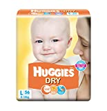 Huggies Dry Taped Baby Diapers, L 56 Pieces
