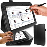 Google Nexus 10 Tablet Case - G-HUB Black Carbon Fibre Print PropUp Stand Case Cover (with integrated stand function and magnetic sleep sensors) for Google / Samsung Nexus 10 with BONUS: G-HUB ProPen Stylus