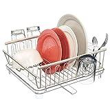 mDesign étendoir à vaisselle - sèche-vaisselle avec bac d'égouttement et bec...