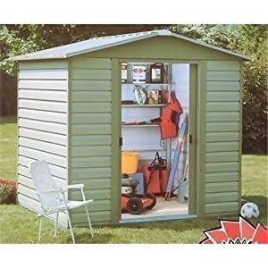 Belfast Shiplap 9'4″ x 6'1″ Apex Metal Shed + Free Anchor Kit
