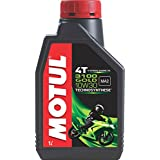 Motul 3100 4T Gold 10W30 API SM Technosynthese High Performance Semi Synthetic Engine Oil for Bikes (1 L)