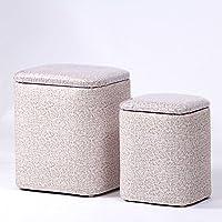 Preisvergleich für Yuan Polsterhocker Gitter-Wohnzimmer-Speicher-Schemel-Korb-Schuh-Bank-Schemel-Schlafzimmer-Ankleiden-Mall-Schuhgeschäft-Schemel Kann Waschbar Sein/Hocker (Farbe : D(2 Pack))