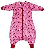 Schlummersack Schlafsack mit Füßen für den Winter in 3.5 Tog mit abnehmbaren Ärmeln für Mädchen - Äpfel - 5-6 Jahre/120 cm