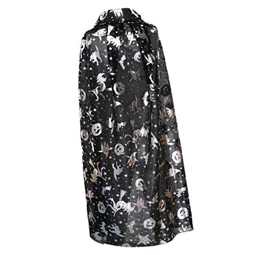 ostüm Cosplay Cape Vampir Umhang für Mädchen Junge - Silber (Klassische Halloween-kostüme Für Jungen)