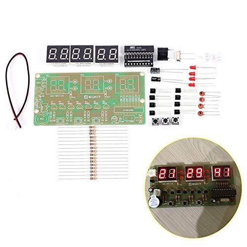 Reloj Electrónico Digital C51 DIY Kit Suite DIY Kit Seix 6 bits Piezas Electrónicas Componentes Electrónicos...
