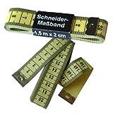 1 Schneider - Maßband / Bandmaß, 150 cm gelb, Schneidermaßband