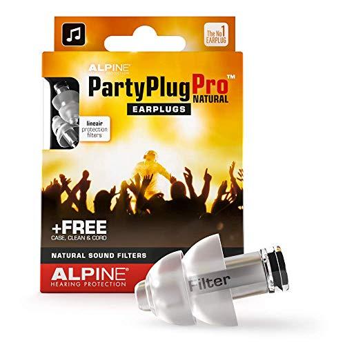 Alpine PartyPlug Pro Ohrstöpsel - Partys, Musikfestivals und Konzerte sicher genießen - Flat Filter - Bequem und hypoallergen - Wiederverwendbare Gehörschutz