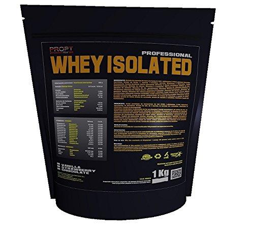 Whey Isolated 1kg 100% profesional, proteina isolada, sabor chocolate