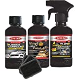 SHEEBA - SMLTK5 Multi Surface Car Polish and Scratch Remover Kit (Pack of 3)